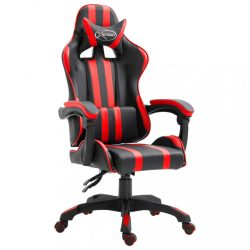 piros műbőr gamer szék