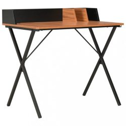 fekete és barna íróasztal 80 x 50 x 84 cm
