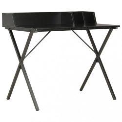 fekete íróasztal 80 x 50 x 84 cm