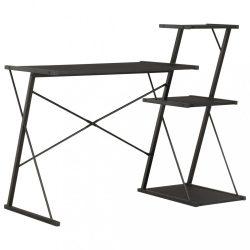 fekete íróasztal polccal 116 x 50 x 93 cm
