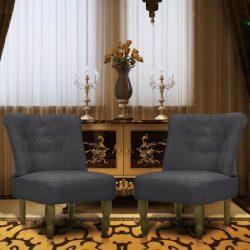 2 db szürke szövetkárpitozású francia szék