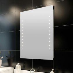 fürdőszobatükör LED-fényekkel 60 x 80 cm (Ho x Ma)