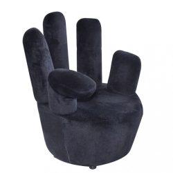 fekete kéz alakú bársonyszék