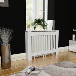 Fehér MDF radiátorburkolatos szekrény 112 cm