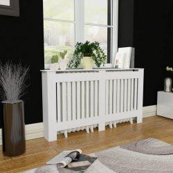 Fehér MDF radiátorburkolatos szekrény 152 cm
