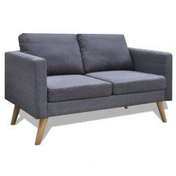 sötétszürke 2 személyes szövet kanapé