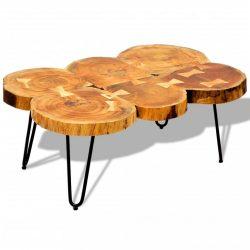 tömör kelet-indiai rózsafa dohányzóasztal 6 fakoronggal 35 cm