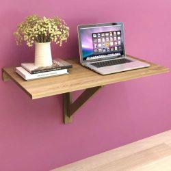 tölgyszínű fali lehajtható asztal 100 x 60 cm