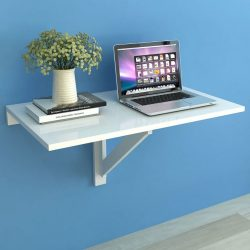 fehér lehajtható fali asztal 100 x 60 cm