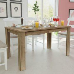 tölgyfa étkezőasztal 140 x 80 x 75 cm
