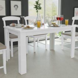 fehér étkezőasztal 140 x 80 x 75 cm