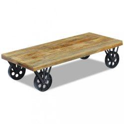 120x60x30 cm Tömör mangófa dohányzóasztal