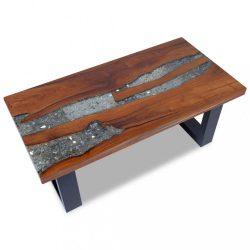 100x50 cm gyantázott tíkfa dohányzóasztal