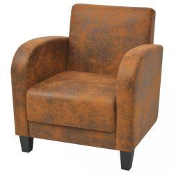 barna művelúr fotel