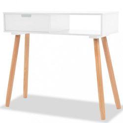 fehér tömör fenyőfa tálalóasztal 80 x 30 x 72 cm