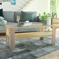 tölgyfa színű faforgácslap dohányzóasztal 100 x 59 x 42 cm