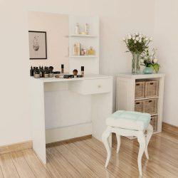 fehér faforgácslap öltözőasztal 75 x 40 x 141 cm