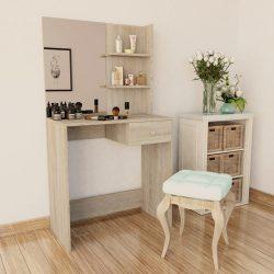 tölgyfa színű faforgácslap öltözőasztal 75 x 40 x 141 cm
