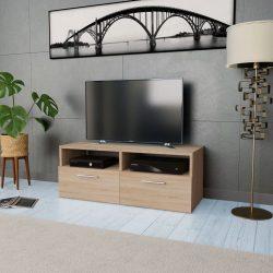 tölgyfa színű faforgácslap TV szekrény 95 x 35 x 36 cm