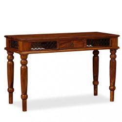 tömör kelet-indiai rózsafa íróasztal 120 x 50 x 76 cm