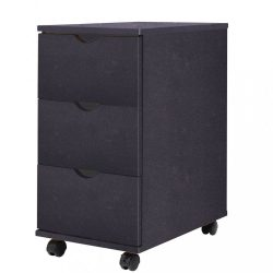 fekete fiókos szekrény 33 x 45 x 60 cm