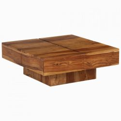 tömör kelet-indiai rózsafa dohányzóasztal 80 x 80 x 30 cm