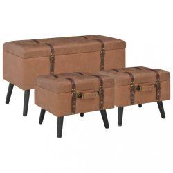 3 darab barna műbőr tárolóülőke