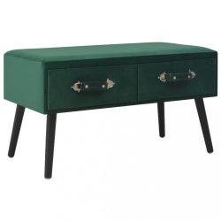 zöld bársony dohányzóasztal 80 x 40 x 46 cm