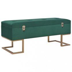 zöld bársonypad tárolórekesszel 105 cm
