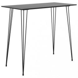fekete bárasztal 120x60x105 cm