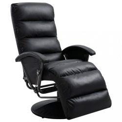 fekete műbőr TV-fotel