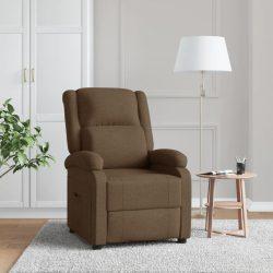 barna szövetkárpitozású dönthető TV-fotel
