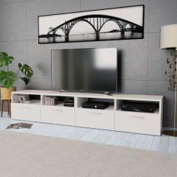 2 db fehér faforgácslap TV szekrény 95 x 35 x 36 cm