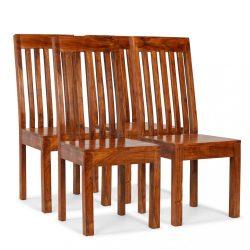 4 db modern stílusú tömör fa szék paliszander felülettel