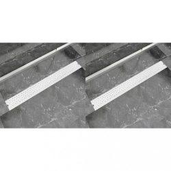 2db lineáris rozsdamentes acél buborék zuhany lefolyó 930x140mm