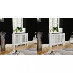 2 db fehér MDF radiátorburkolat 112 cm
