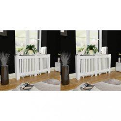 2 db fehér MDF radiátorburkolat 152 cm