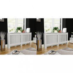 2 db fehér MDF radiátorburkolat 172 cm