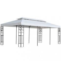 fehér pavilon 3 x 6 m