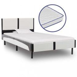 műbőr ágy memóriahabos matraccal 90 x 200 cm