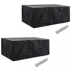 2 db védőhuzat 8 személyes polyrattan szetthez 229 x 113 cm