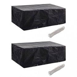 2 db kertibútor-huzat 8 fűzőlyukkal 200 x 160 x 70 cm