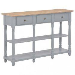 szürke MDF tálalóasztal 120 x 30 x 76 cm