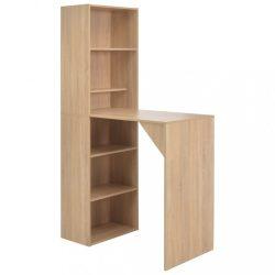 tölgyszínű bárasztal szekrénnyel 115 x 59 x 200 cm