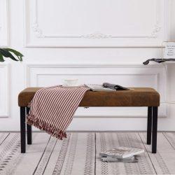 barna művelúr pad 106 cm