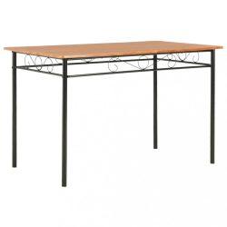 barna MDF étkezőasztal 120 x 70 x 75 cm