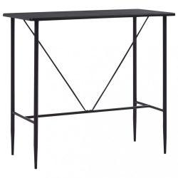 fekete MDF bárasztal 120 x 60 x 110 cm