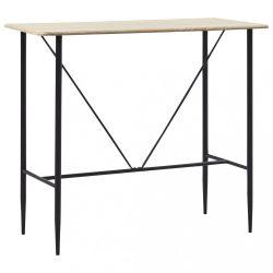 tölgyszínű MDF bárasztal 120 x 60 x 110 cm