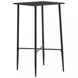 fekete MDF bárasztal 60 x 60 x 111 cm