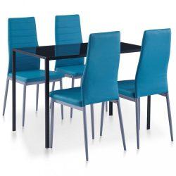 5 darabos kék étkezőszett